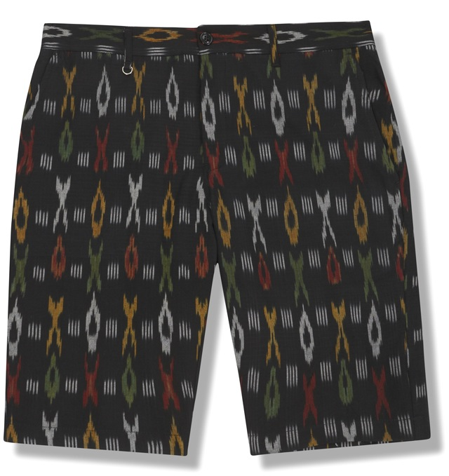 BEE_IKAT_SHORTS_BLACK